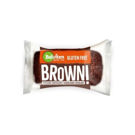 "Брауни - безглутенова какаова бисквитка с парченца шоколад ""Balviten"" 65 г"