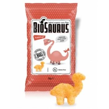 БИО Царевичен чипс с кетчуп печен BioSaurus 50гр.