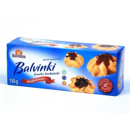 "Безглутенови хрупкави бисквити с плодов конфитюр ""Balviten"" 150 г"