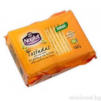 Безглутенови тост филийки/ хрупкави сухари 100 гр Tostadas, Noglut
