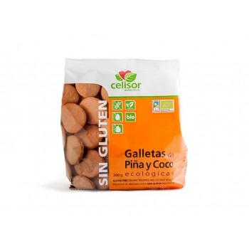 Био безглутенови бисквити с кокос и ананас 200 гр, Celisor