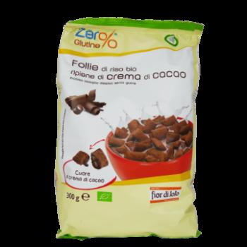 Био оризова закуска/снакс с какаов пълнеж без глутен 300 гр
