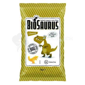 БИО Царевичен чипс със сирене печен BioSaurus 50гр.